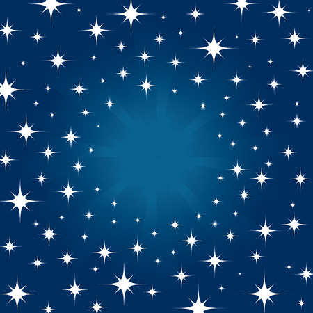 Beautiful night star in sky for background  Vector