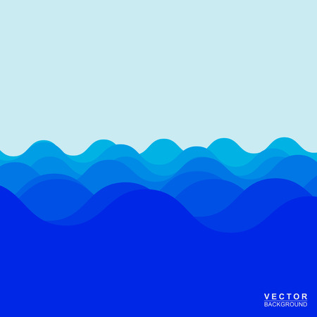 Water wave design over blue background, Vector Vector