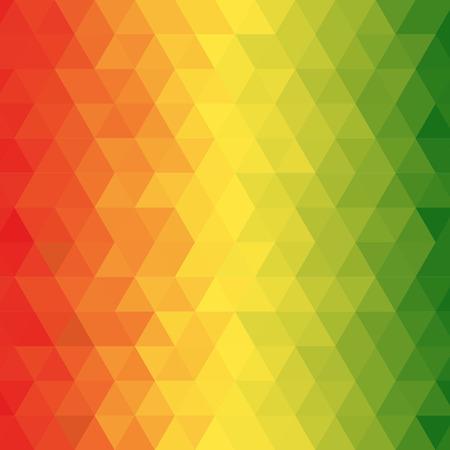 抽象的なレゲエの背景、ベクトルと幾何学模様