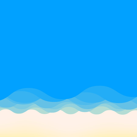 tropical beach: Summer beach with space for text Illustration