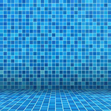 スイミング プールで青いタイル モザイク 写真素材 - 32813618