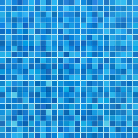 Blue ceramic tile mosaic in swimming pool