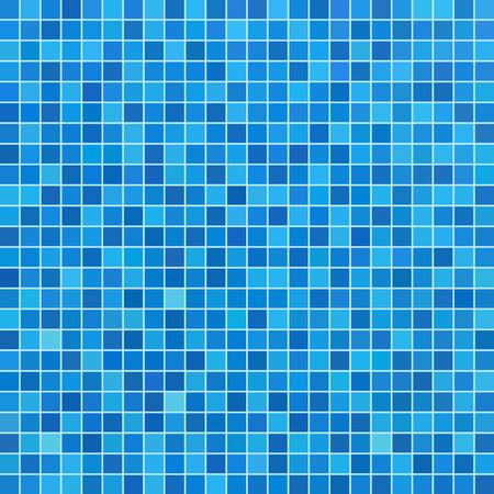 Blauwe keramische tegels mozaïek in zwembad Vector Illustratie