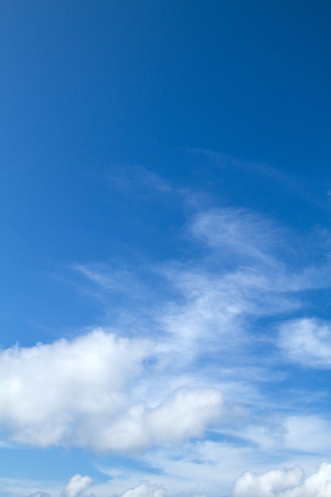View white cloud with blue sky background 免版税图像
