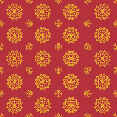 line thai: Line Thai traditional art pattern background, Vector