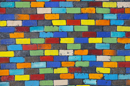 mosaic wall: Colorful mosaic wall for background