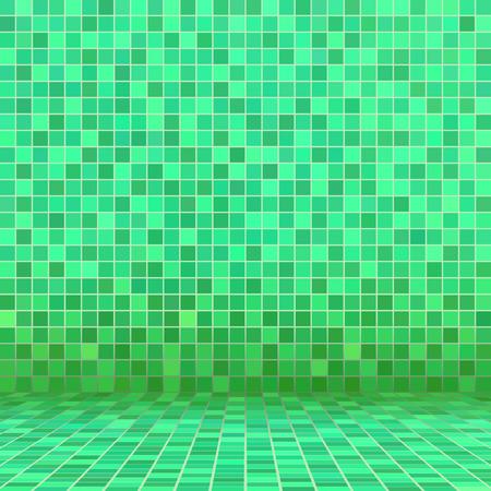 ceramic tile: Green ceramic tile mosaic in swimming pool