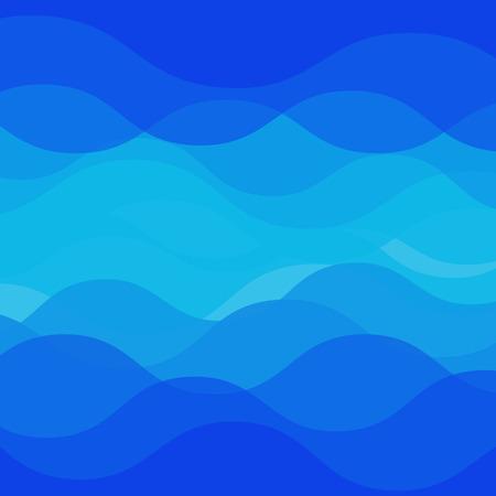 wasserwelle: Wasser-Wellen-Design auf blauem Hintergrund, Vektor-