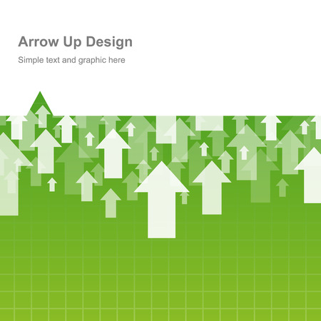 going green: Business and finance form design arrow up
