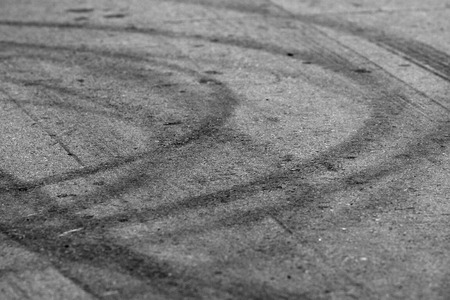tire marks: Tire marks on road track for background