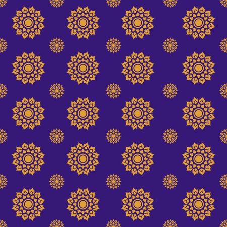 line thai: Line Thai traditional art pattern background
