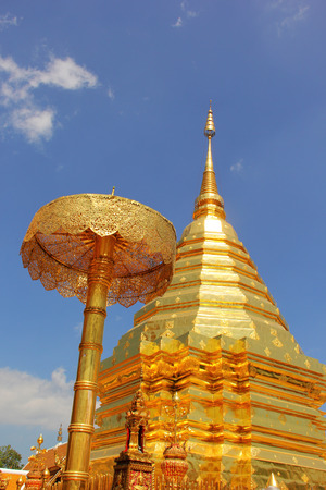 doi: Pra Thad Doi Suthep Temple in Chiang Mai, Thailand Stock Photo
