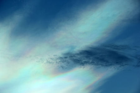 diffraction: Beautiful iridescent colorful cloud, Irisation