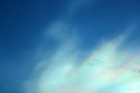 atmospheric phenomena: Beautiful iridescent colorful cloud, Irisation