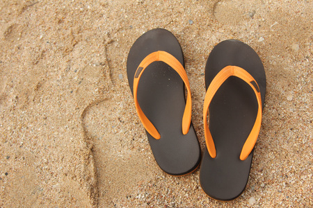 to flop: Flip flop shoes on the tropical beach