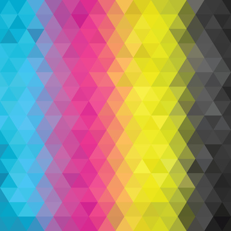 Abstract CMYK color geometric pattern background, Vector