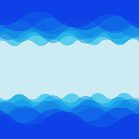 Diseño de la onda de agua sobre fondo azul, vector