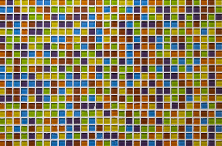 Colorful mosaic tile in restroom for background