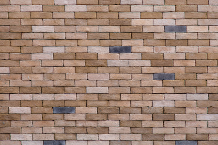Brown stone brick wall with for background