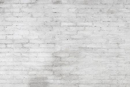 White stone brick wall with for background 写真素材