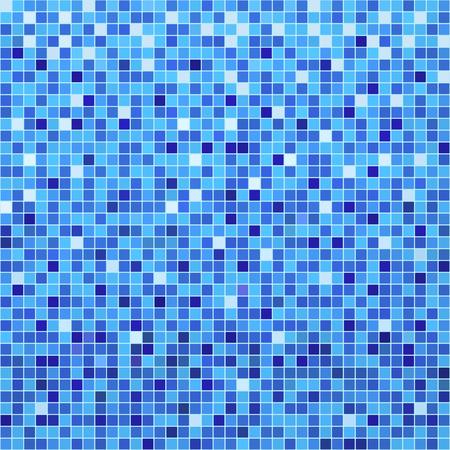 Mosaico de baldosas de cerámica azul en piscina