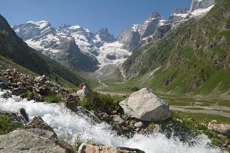 the Caucasus,Dalar,snow-covered mountains, Elbrus region