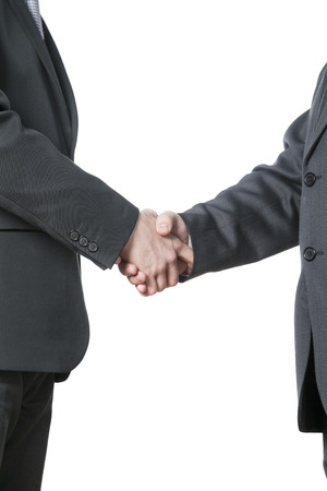 the handshake,the two men shake hands