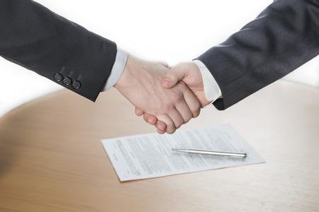 handshake, oba muži si podali ruce Reklamní fotografie - 33048824