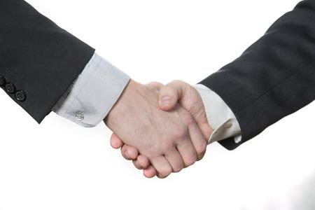 handshake, oba muži si podali ruce Reklamní fotografie - 33048825