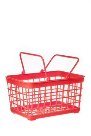 the red basket on white background plastic Reklamní fotografie - 33048920