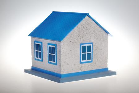 house model blue isolated on white background