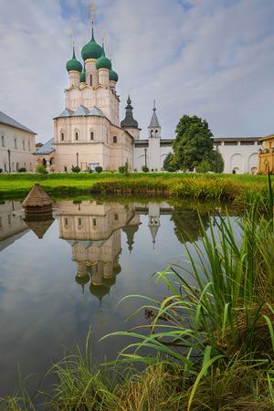 theologian: church John Theologian  Rostov  Great Russia  reflection  lake Stock Photo