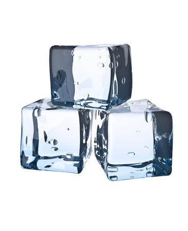 Ice cube. Isolated on white background