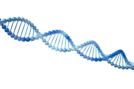 biotech: 3d DNA  Isolated on white background