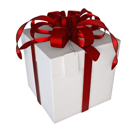 gift box on the white background  3d illustration  Isolated