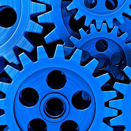 blue gears