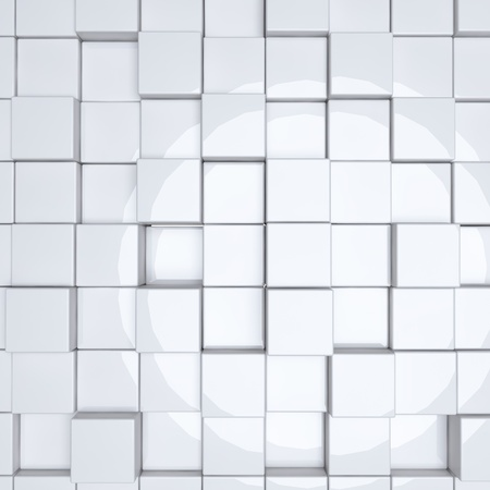 abstract group of white cubes Stock Photo