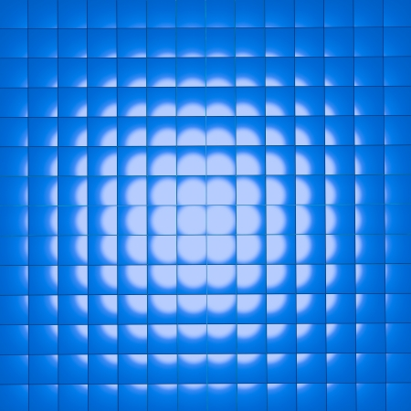 abstract group of blue cubes