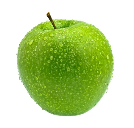 green Apple on the white background Stock Photo