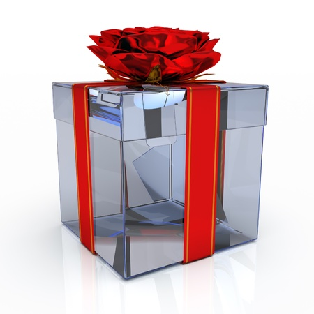 Gift box on the white background
