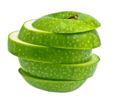 Weird Green Apple on white background photo