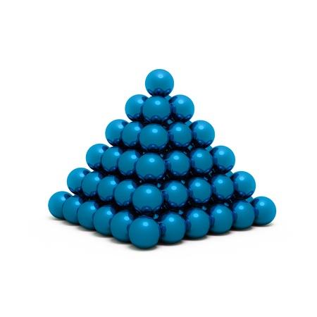 Isolated blue  neokub on a white background Stock Photo - 13947314