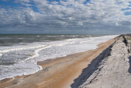 Winter time in Florida on the coast with waves