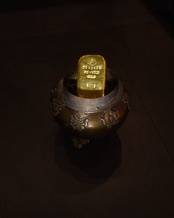 500 g gold bar of valuable gold