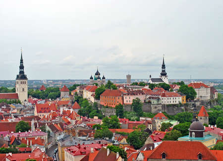 Panoramic view of Old Town of Tallinn, Estonia