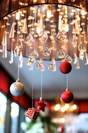 resturant: Christmas decoration with hanging ball