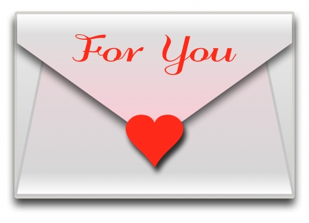 Love letter with red heart Stock Photo - 18427814
