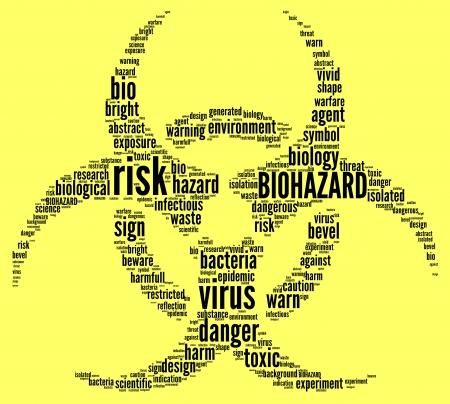 biohazard symbol tag cloud illustration Stock Illustration - 21619096