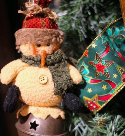 plushie: Christmas ornament snowman plushie Stock Photo