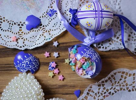 easteregg: Broken Easteregg stars Stock Photo